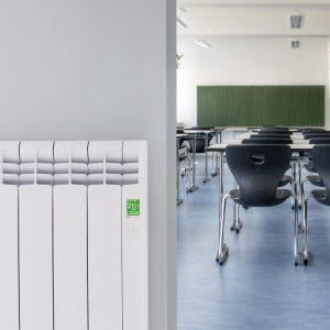 Rointe D Series WiFi electric radiator in school classroom