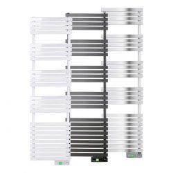 Rointe D Series WiFi 750 watt towel rail in white, black and chrome