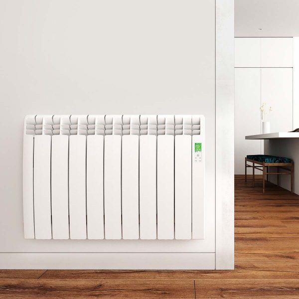 Rointe D Series WiFi white radiator wall mounted in home