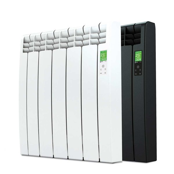 Rointe D Series electric WiFi 3550 watt radiator in white and graphite with 5 heating elements
