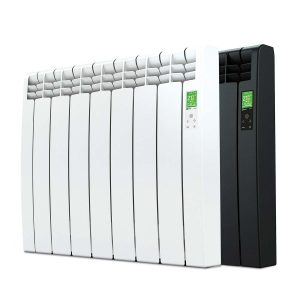 Rointe D Series electric WiFi 770 watt radiator in white and graphite with 7 heating elements