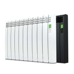 Rointe D Series electric WiFi 990 watt radiator in white and graphite with 9 heating elements