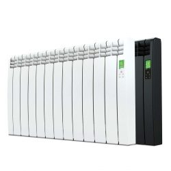 Rointe D Series electric WiFi 1210 watt radiator in white and graphite with 11 heating elements