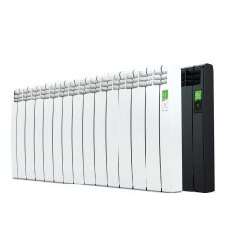 Rointe D Series electric WiFi 1430 watt radiator in white and graphite with 13 heating elements