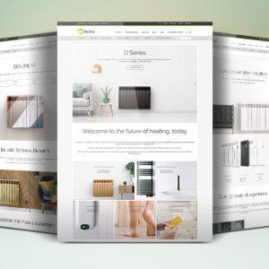 Screenshots showing new Rointe heating website