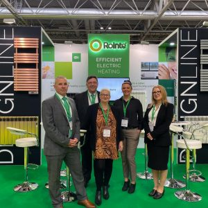 Rointe heating team exhibiting at UK construction week 2019