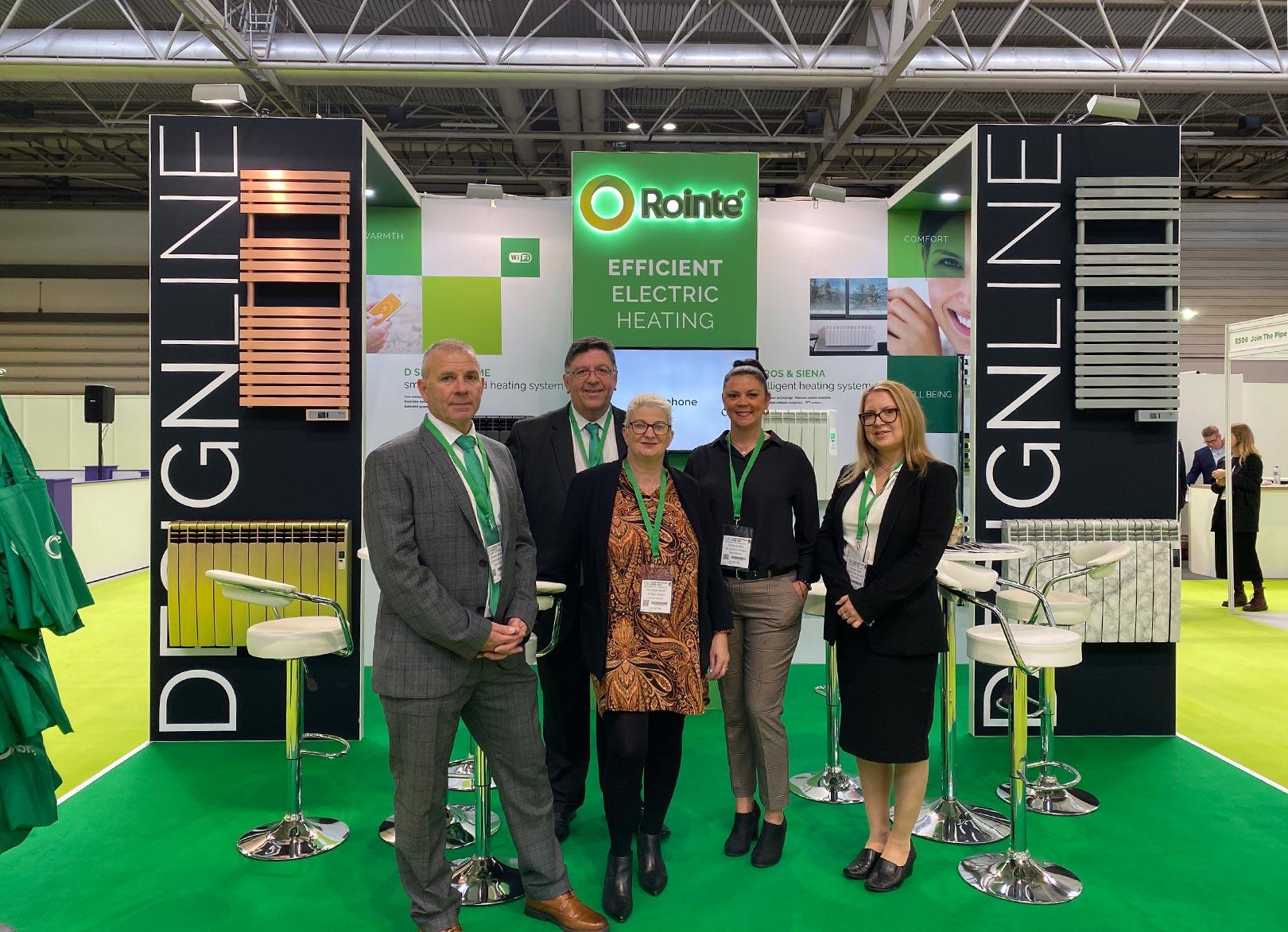Rointe heating team exhibiting at UK construction week 2019