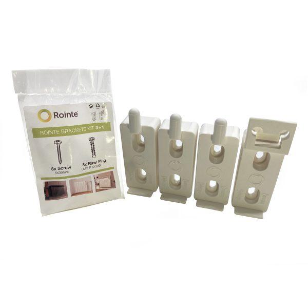 Rointe radiator white wall brackets