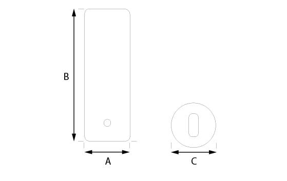 Rointe towel rail wall brackets measurement diagram