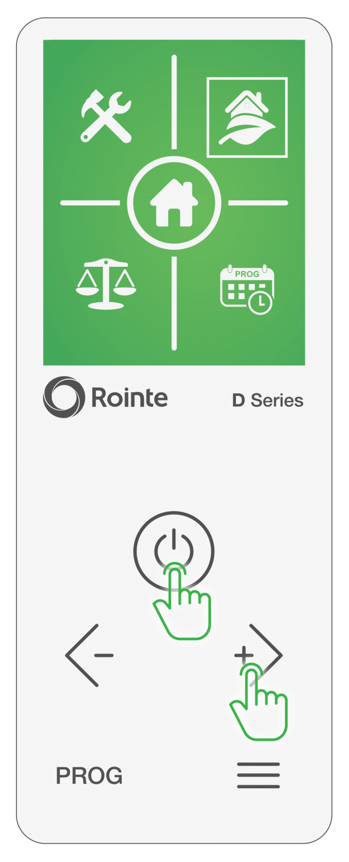 Select settings icon to update Rointe Connect app software/firmware