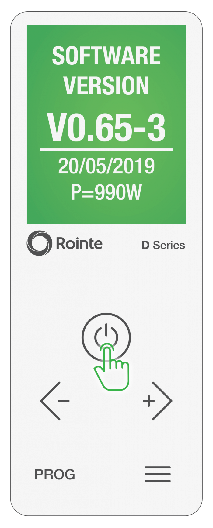 Rointe Connect app current firmware/software installed screen