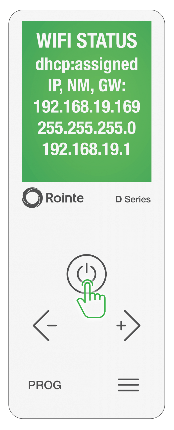 Rointe Connect app firmware/software WiFi information screen 1