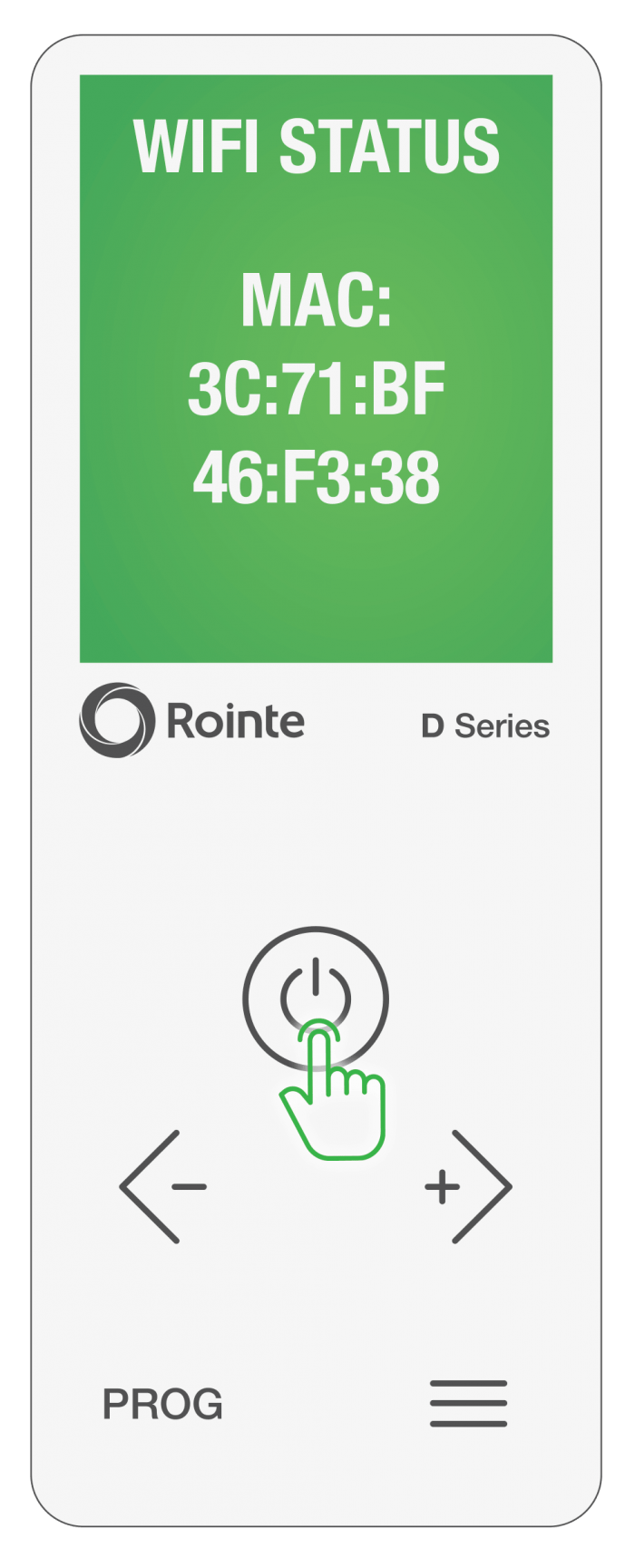 Rointe Connect app firmware/software WiFi information screen 2