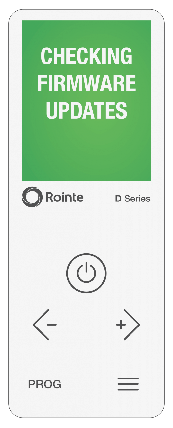 Rointe Connect app checking firmware/software updates screen