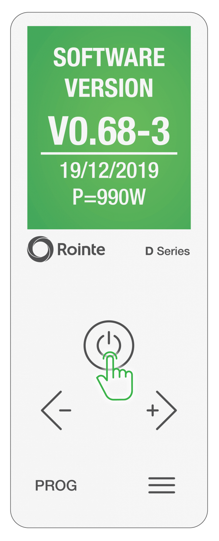 Updated Rointe Connect app software screen