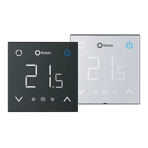 Rointe CT2 Wifi white and black thermostats