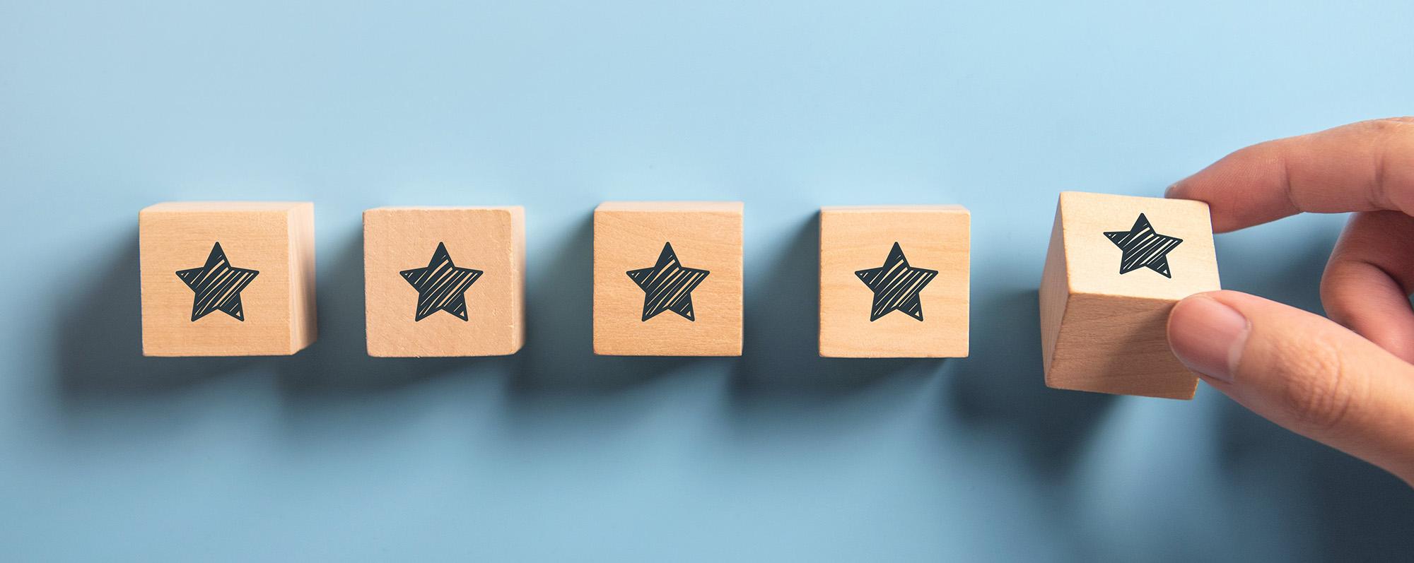5 star review illustration