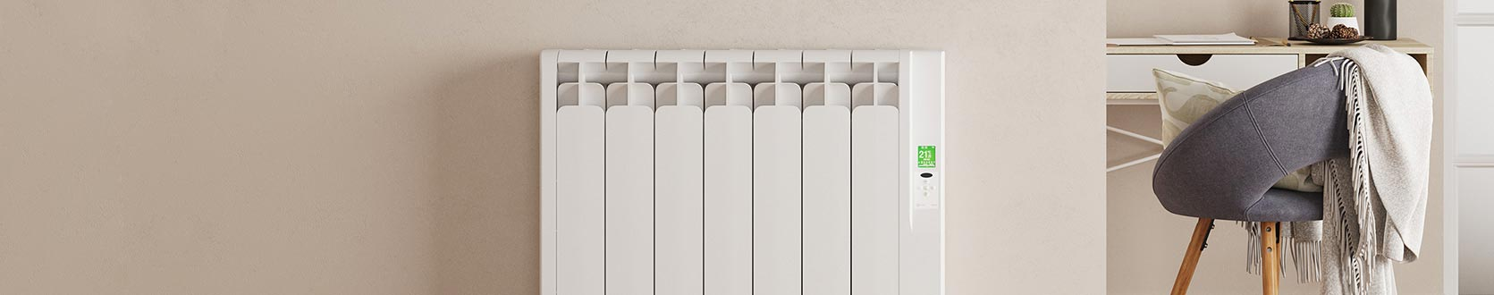 Rointe Kyros electric radiator wall mounted in hallway