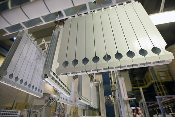 Step 14 - final painted aluminium radiators
