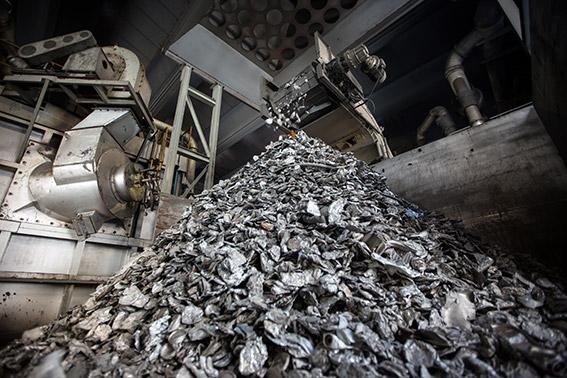 Step 3 - Raw/recycled aluminium storage
