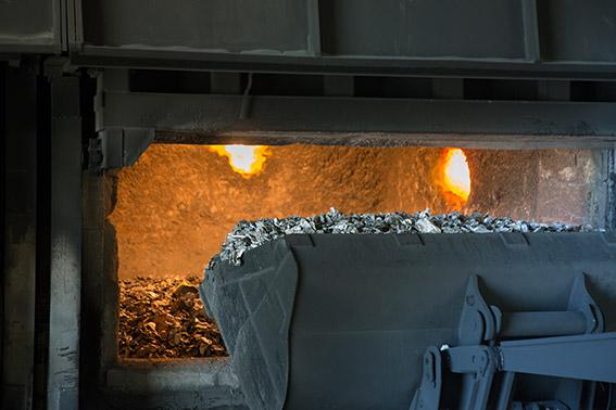 Step 4 - Raw/recycled aluminium heating