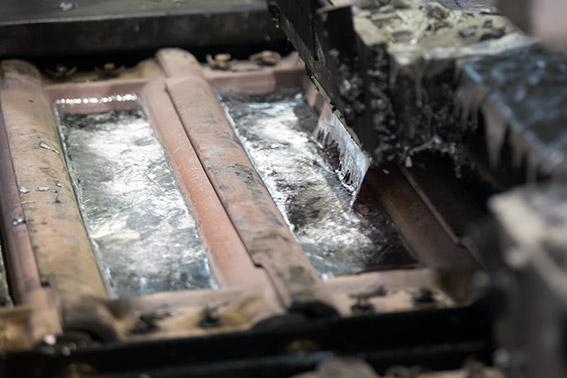 Step 6 - Aluminium ingot moulding