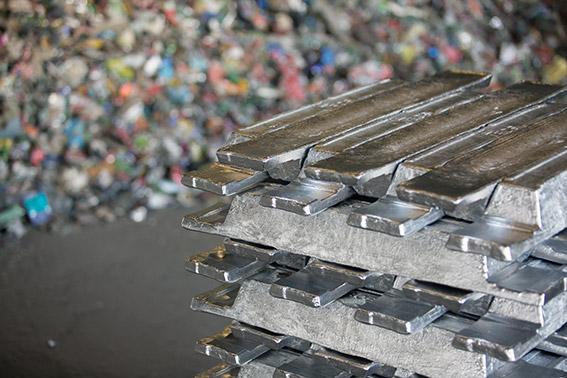 Step 7 - Aluminium ingot storage
