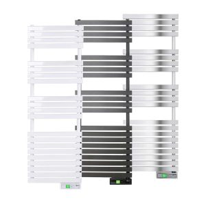 D Series WiFi 600 watt white, graphite and chrome electric towel rails