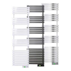 D Series WiFi 750 watt white, graphite and chrome electric towel rails