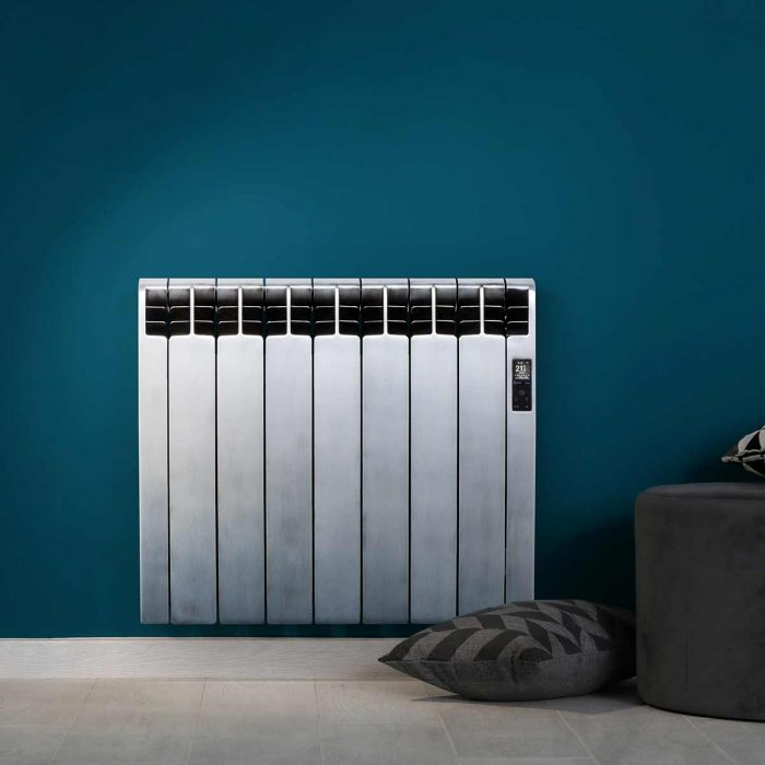 Rointe D Series WiFi designer Tokyo electric radiator with satin oxide finish