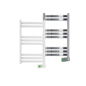 Kyros 300 watt white and chrome electric towel rails