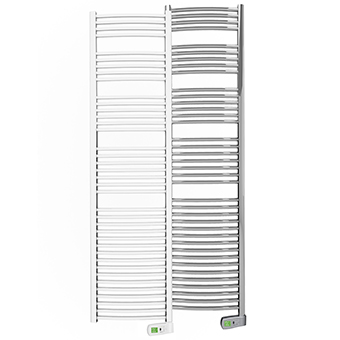 Sygma 1000 watt white and chrome electric towel rails