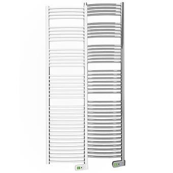 Sygma 1000 watt white and chrome electric towel rails