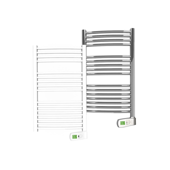 Sygma 300 watt white and chrome electric towel rails