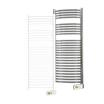 Sygma 500 watt white and chrome electric towel rails