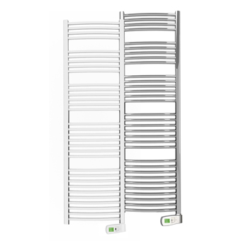 Sygma 750 watt white and chrome electric towel rails