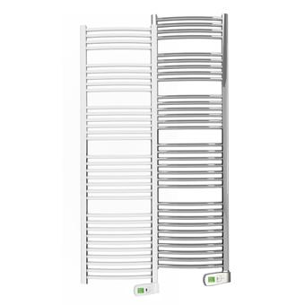 Sygma 750 watt white and chrome electric towel rails