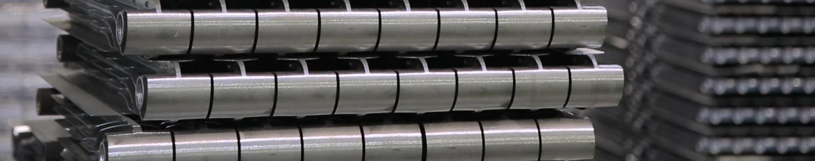 Raw aluminium radiator without paint or finish