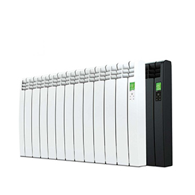 Rointe D Series WiFi 1210 watt electric radiator with 11 heating elements in white and black