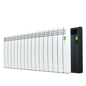 Rointe D Series WiFi 1600 watt electric radiator with 15 heating elements in white and black