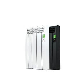 Rointe D Series WiFi 330 watt electric radiator with 3 heating elements in white and black