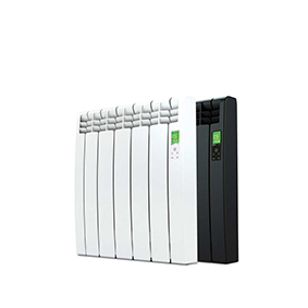 Rointe D Series WiFi 550 watt electric radiator with 5 heating elements in white and black