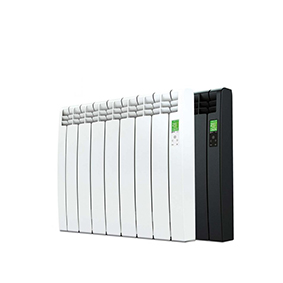 Rointe D Series WiFi 770 watt electric radiator with 7 heating elements in white and black