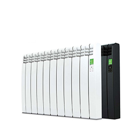 Rointe D Series WiFi 990 watt electric radiator with 9 heating elements in white and black