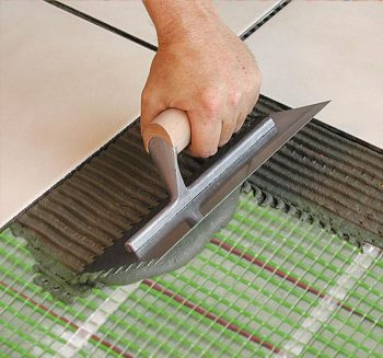 Rointe Atria and Milos underfloor heating mat installation example with levelling compound