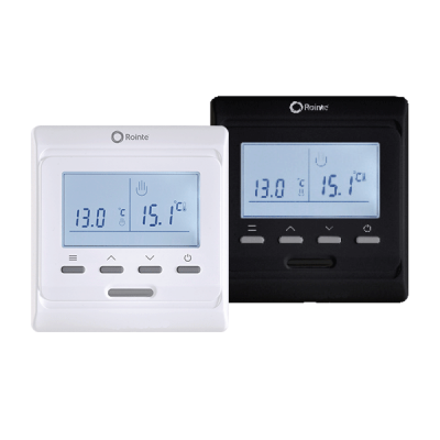 Rointe ST2 white and black thermostats